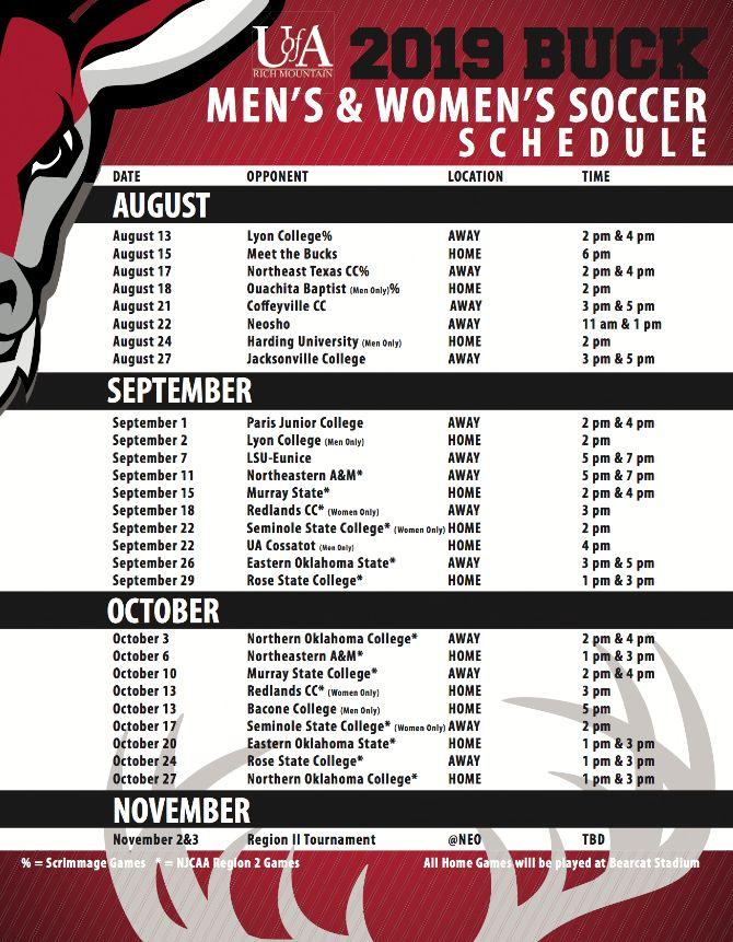 Bucks Soccer Releases Schedule, Announces Meet the Bucks Event