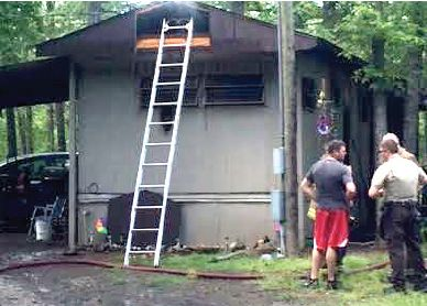Fire contained on Roach Avenue