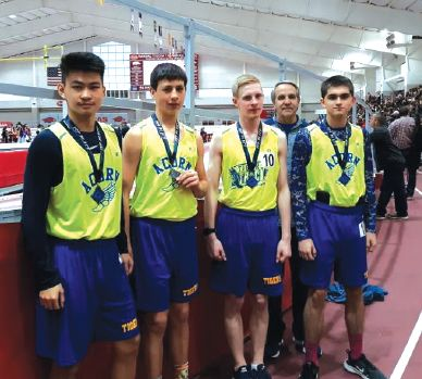 Acorn Sr. Boys Place 3rd at State Indoors