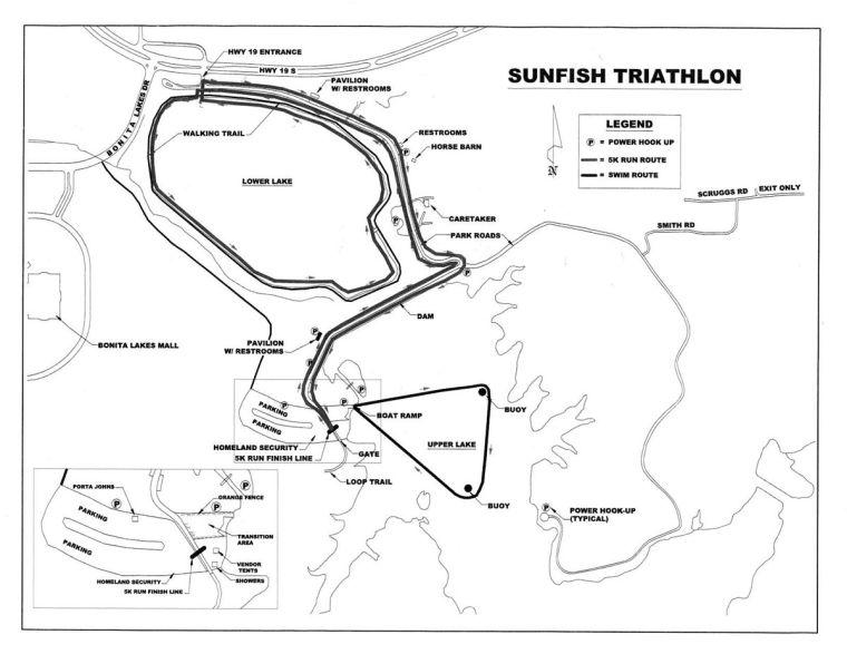 Sunfire Run/Swim map