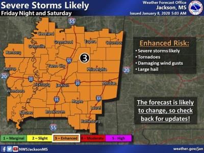 Severe weather headed to East Mississippi