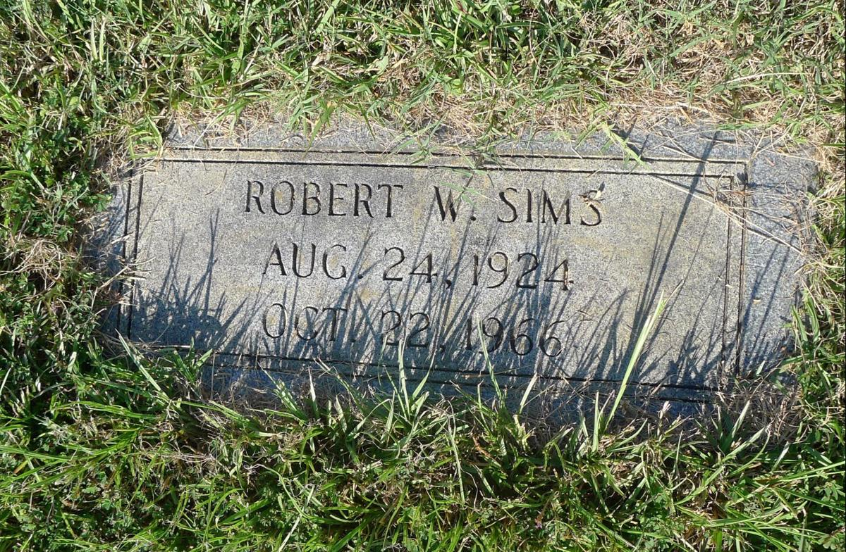 Murder Mystery Robert Sims headstone