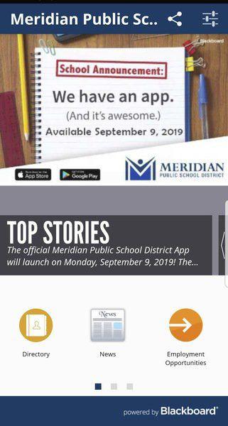 Meridian schools to launch phone app