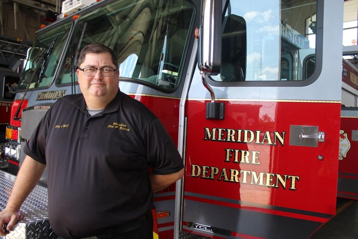 CLIMBING THE LADDER: Longtime firefighter Jason Collier takes the lead as Meridian Fire Chief