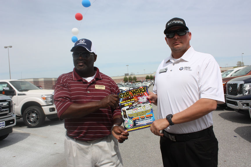 Terry Powe, Sales Consultant With Rick Justice Honda, And Shane Holder,  Client Advisor With BMW Of Meridian, Were On The Lot Wednesday Gearing Up  For Car ...