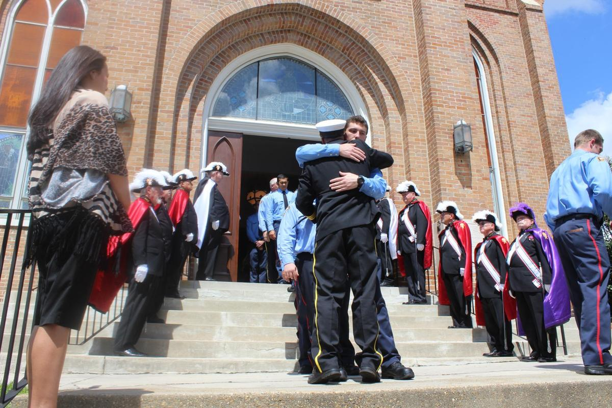 firefighters community fill church to remember meridian