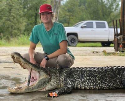 MIKE GILES: Former Clarkdale student lands monster gator