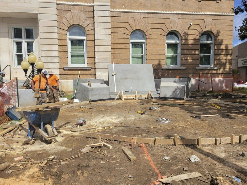 Restoration and Remembrance: Work underway on veterans memorial at courthouse