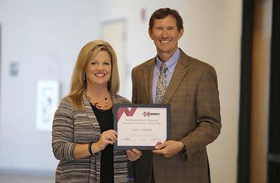 Leonard named employee of the month at EMCC