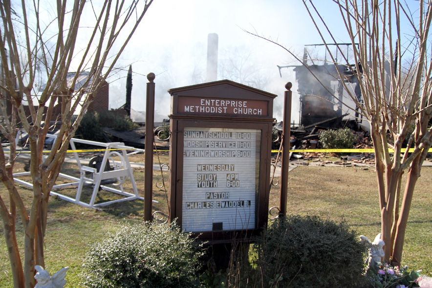 Church sign remains