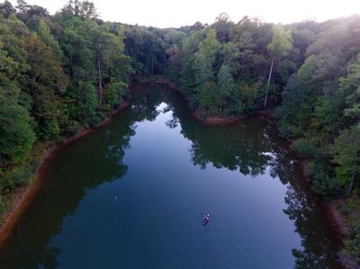 Bonita Lakes kayaker