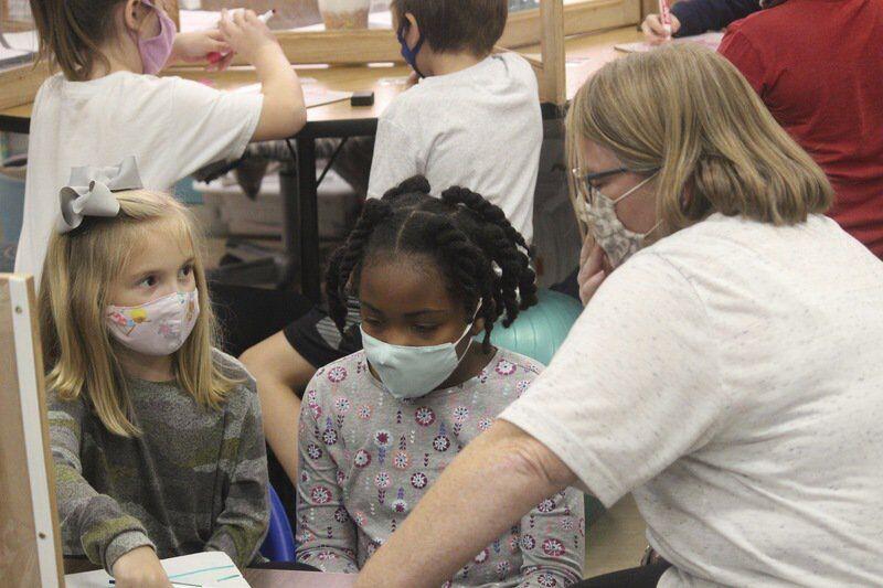 November's Golden Apple Teacher Angie Coward puts her students first