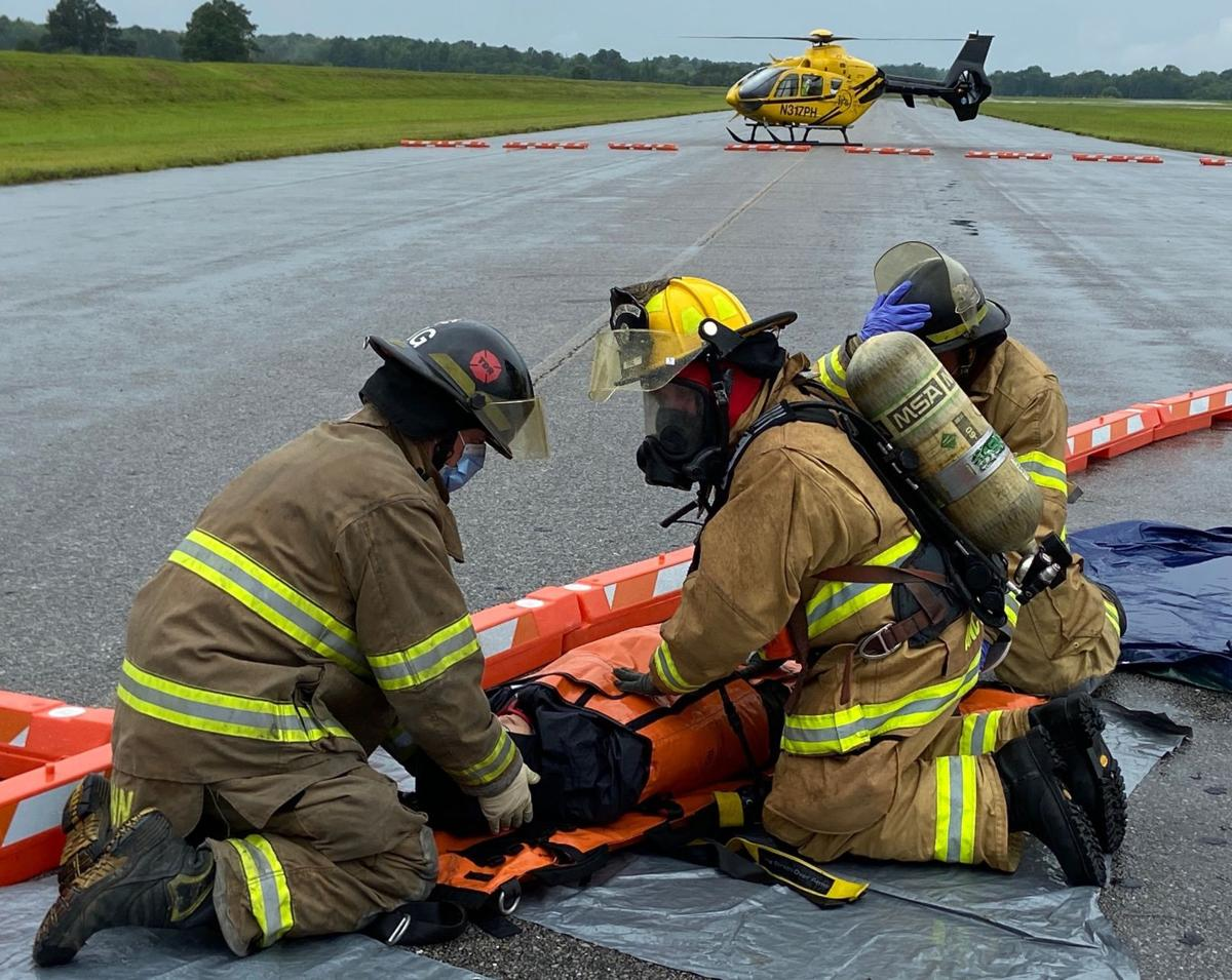 First responders sharpen their skills during emergency drill at Meridian Regional Airport