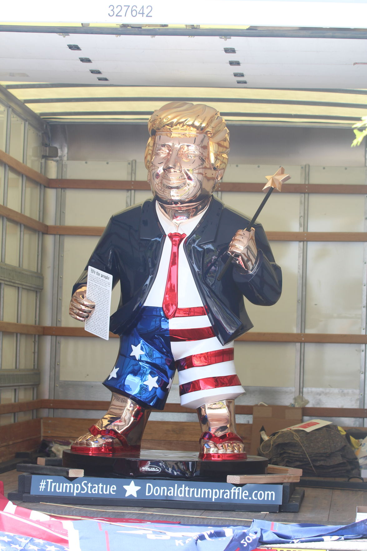 Trump Rally Statue.JPG