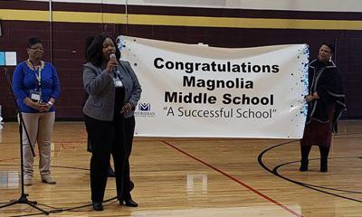 Magnolia Middle School celebrates success, principal