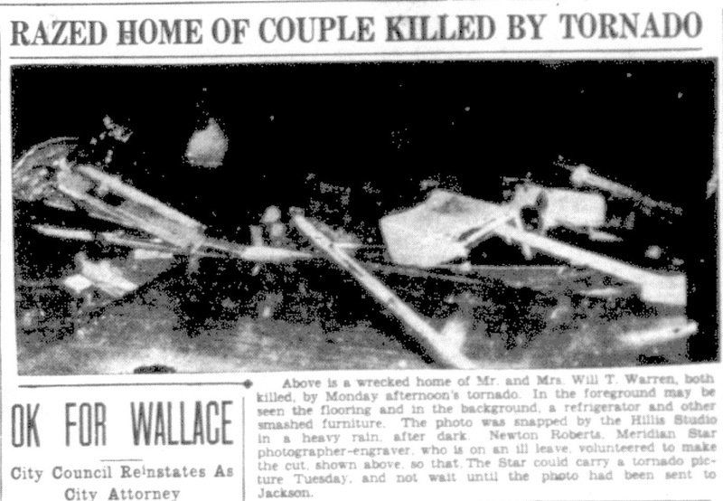 Deadly Meridian tornado recalled 74 years later