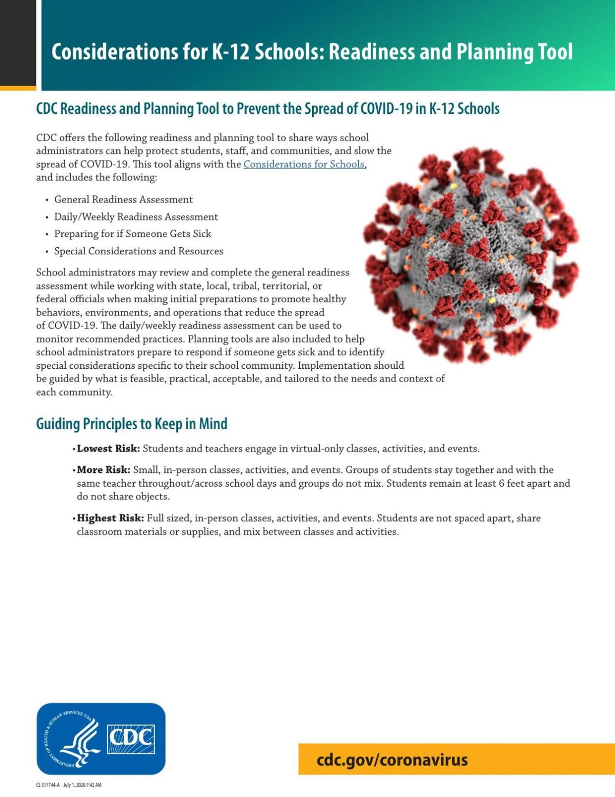 CDC Readiness and Planning Tool