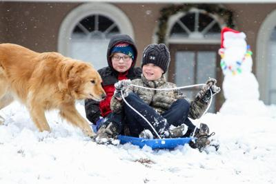 Snow Day Power outages, sledding and freezing temperatures
