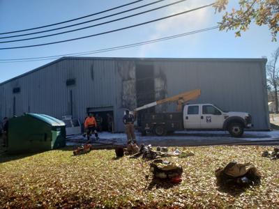 Frank Cochran Center damaged by fire