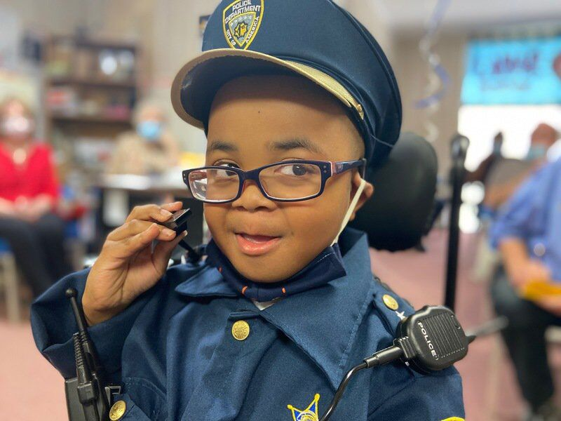 10-year-old boy sworn in as Marion police officer