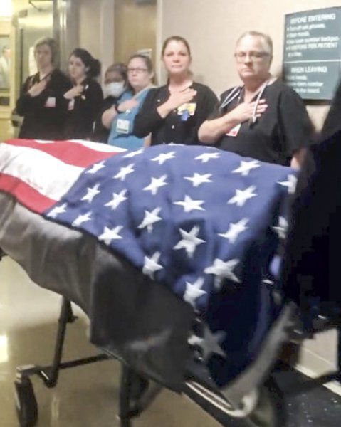 Call to Honor: Anderson salutes patients who served with Taps tribute