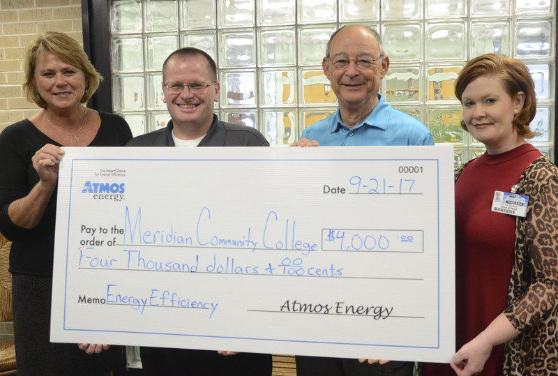 mcc gets rebate check from atmos energy co. | local news