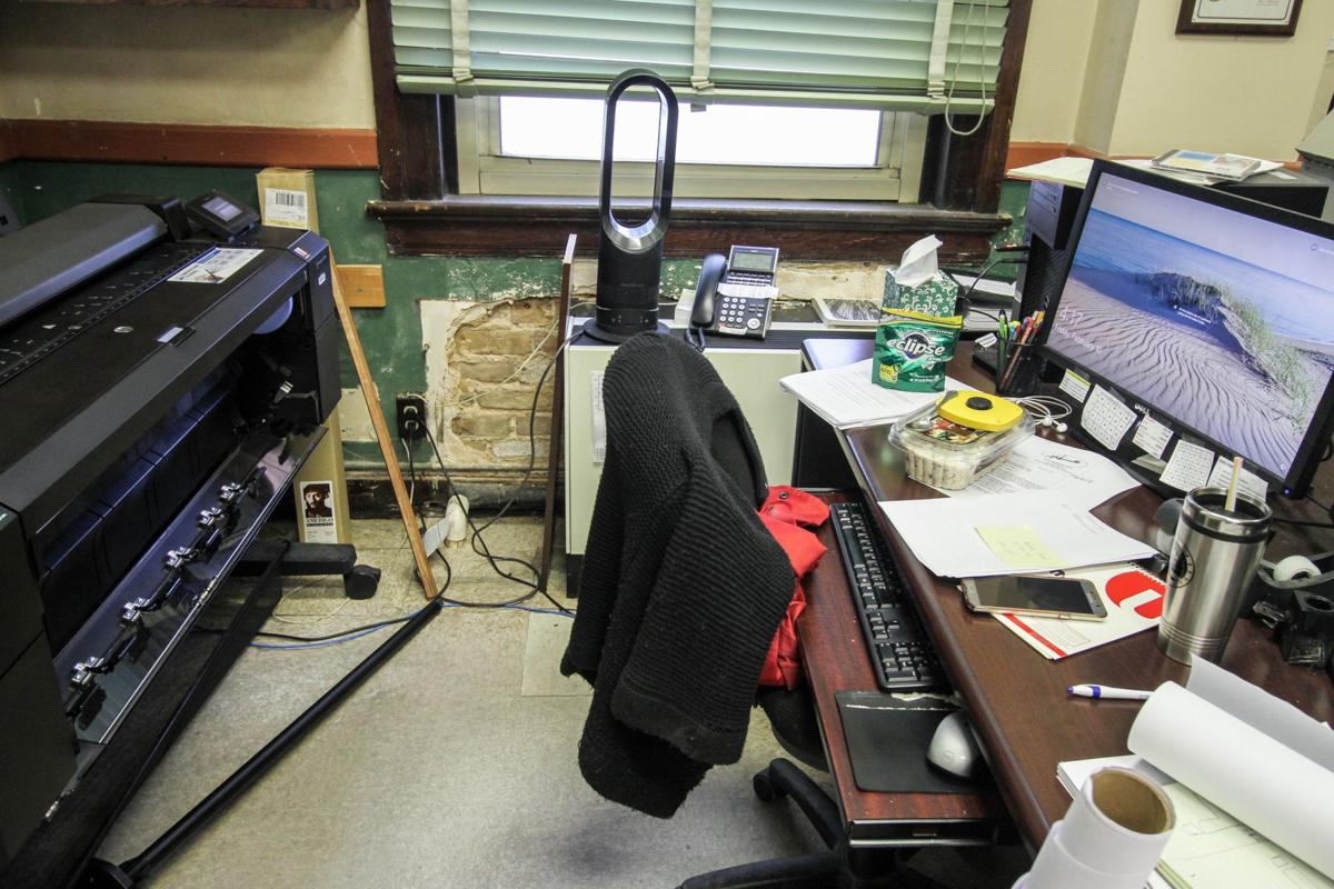 Workers at the Lauderdale County Courthouse deal with cramped offices