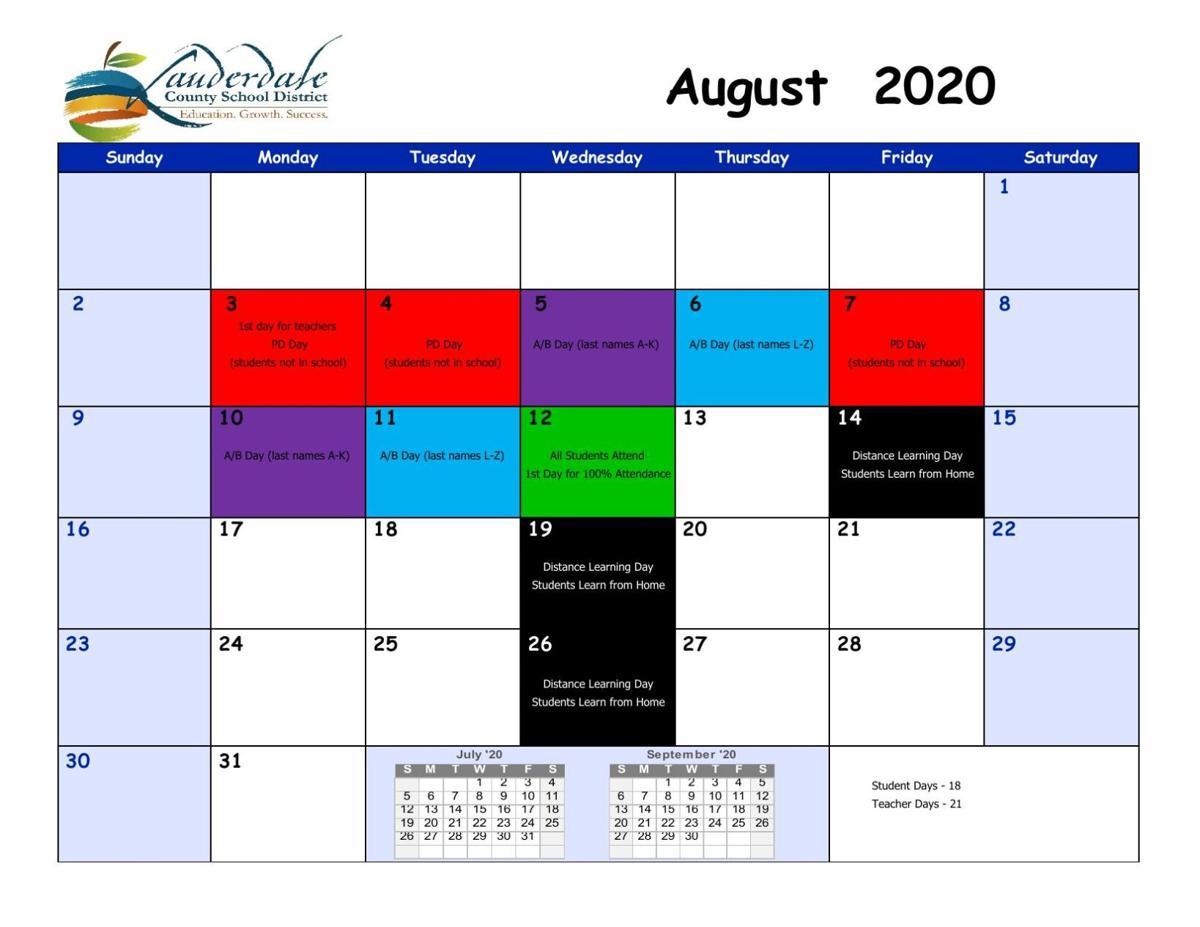 Lauderdale County School District Calendar