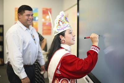 Tribe holds ribbon-cutting for new upper elementary building