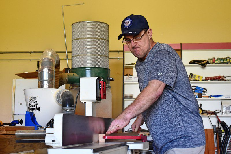 Navy vet builds on passion at Pearl River Custom Woodworks