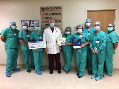 Anderson utilizing new stent for cardiac patients