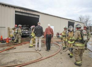 Truck fire contained