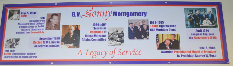 NAS Meridian display honors G.V. 'Sonny' Montgomery