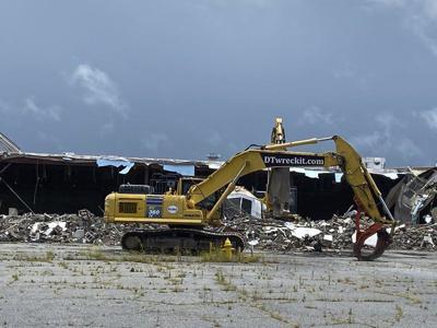 Demolition begins at old Village Fair Mall in Meridian