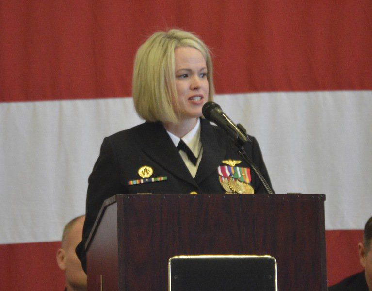 NAS Meridian welcomes first female commander to Training Squadron 9