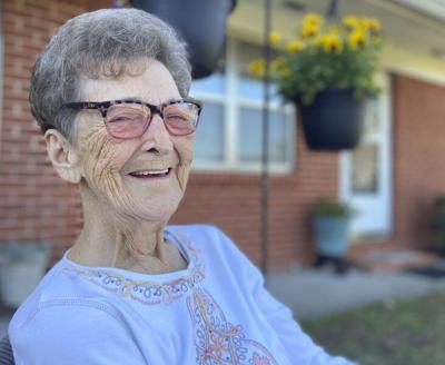 OUR VOLUNTEERS: Retired nurse Peggy White can't stop helping others