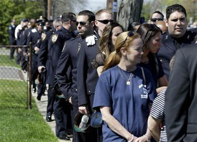 Long Island funeral set for NYPD officer killed on patrol