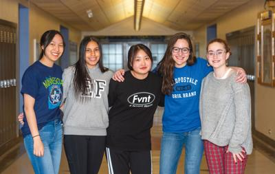 Exchange students at home on the Iron Range