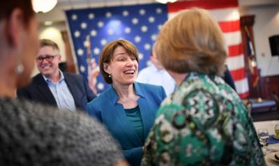Klobuchar, in 2020 presidential swirl, swings through Iowa