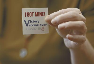 COVID-19 vaccine sticker