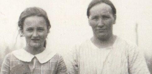 Ailie Niemiste Lampsa is pictured with her mother Ottilia Kallio Niemiste