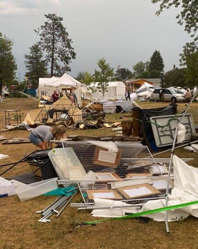 Storm rips through Blueberry Art Festival, forces cancellation of remainder of event