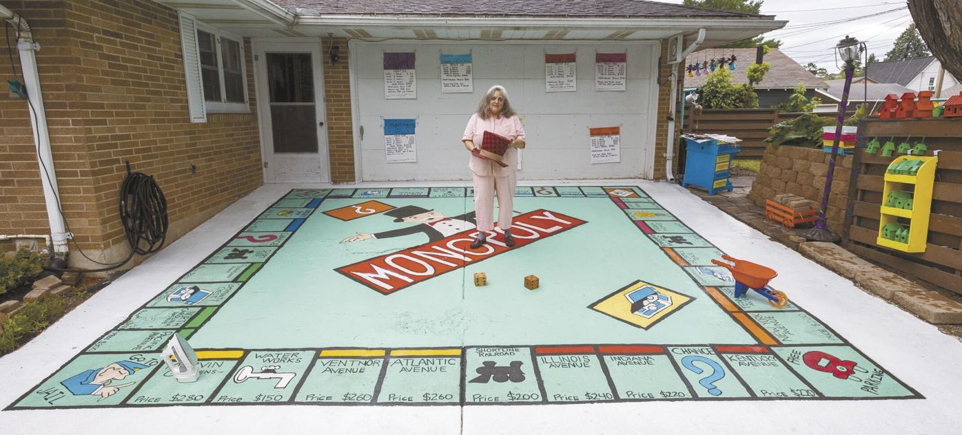 Virginia woman creates life-sized Monopoly game board