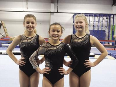 Gymnast trio captures state titles