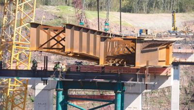 highway 53 project at halfway point
