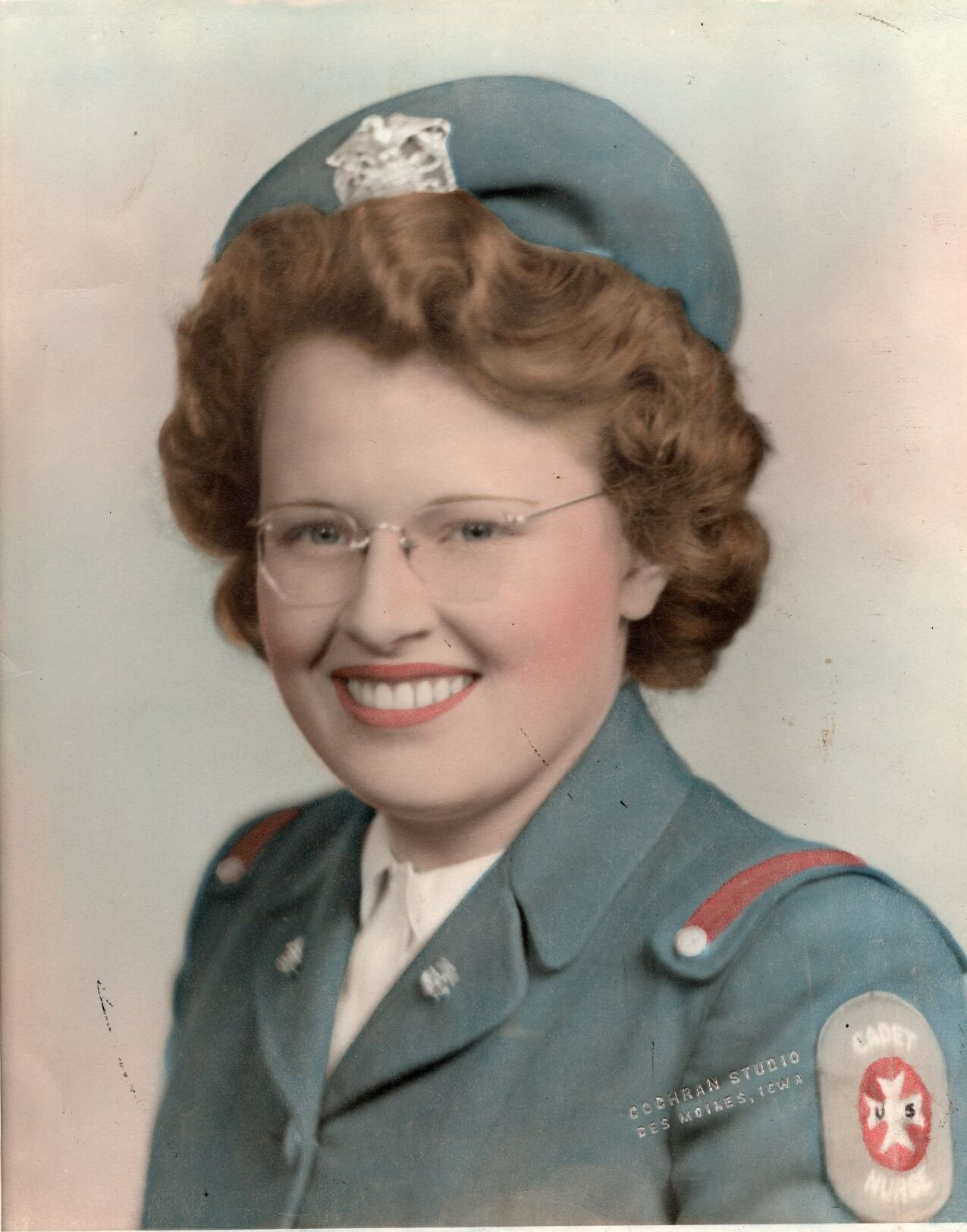 Kathleen Crawford Knox is pictured as a young nurse.