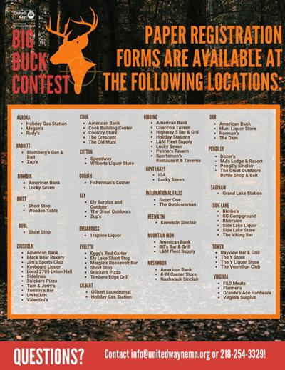 Big Buck Contest to help raise funds for United Way