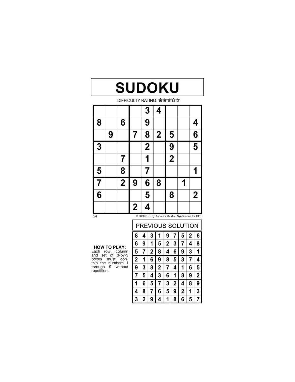 Sudoku by McMeel 6/4 | | messenger-inquirer.com