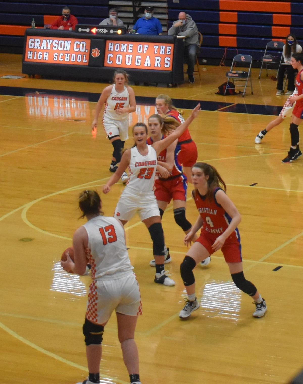 Lady Cougars fall to Lady Centurions, 42-60 2