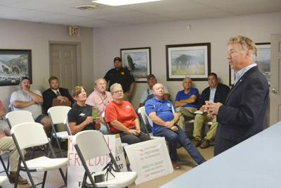 Paul welcomed in McLean County, discusses masks, freedoms